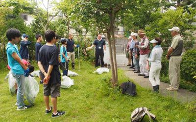 NPO有志・鎌学ボランティア部が協働草刈り作業@4丁目k邸