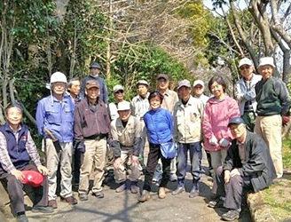 「今泉台緑地ボランティア」第2回作業:散在ガ池公園外周のツバキ群を強剪定