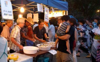 本年も夏祭りにTSKI出店~NPO菜園野菜が人気、ビール、枝豆、ジュースも全て完売!