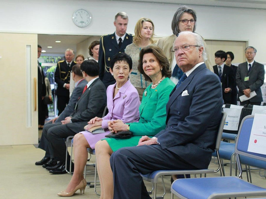 スウェーデン国王夫妻「鎌倉リビング・ラボ」視察に今泉台来訪