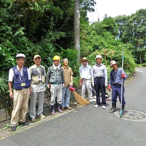 「平成30年7月豪雨」の合間を縫って、今泉台緑地ボラ活で地域の防犯・防災を目指す!