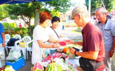 本年も夏祭りにTSKI出店 ~NPO菜園野菜が人気、枝豆、ジュース類完売!